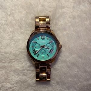 Women's Fossil Watch (Rose Gold/Turquoise Face)